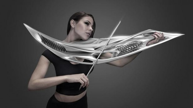 Amazing 3D printed violin